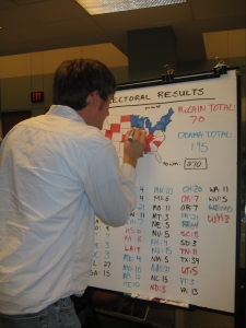 Our current count is Obama with 202, McCain with 75.