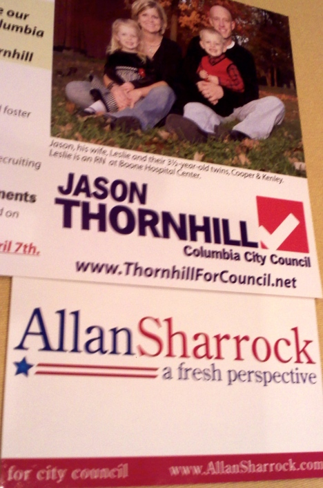 Primary campaign literature used by each Second Ward candidate.