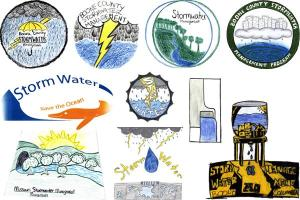 en entries have been chosen as finalists in the stormwater management program logo contest. (CM)